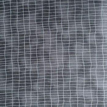 tela patchwork mascarilla cuadros negro
