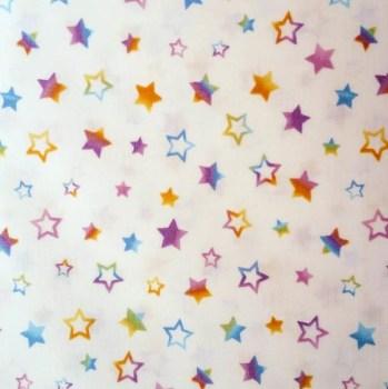 tela patchwork mascarillas estrellas arcoiris grandes