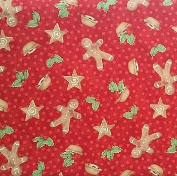tela patchwork mascarilla galletas gengibre