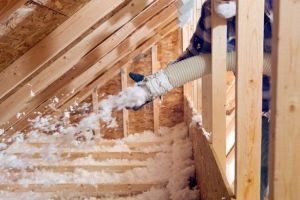 Blown In Insulation in Toronto with fiberglass