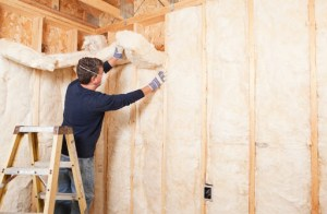 Installing spray foam insulation in home
