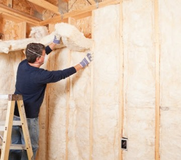 Installing spray foam insulation in home