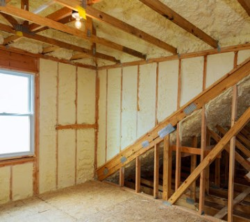 insulated home with spray foam insulation