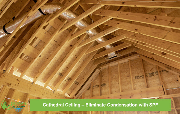 Cathedral Ceiling – Eliminate Condensation with SPF