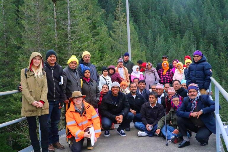 Bhutanese Community Members at Cedar River Watershed