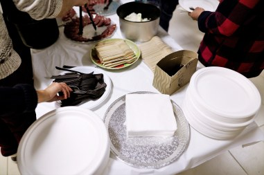 Compostable dinnerware for Tết dinner. Photo Credit: Sam Le.