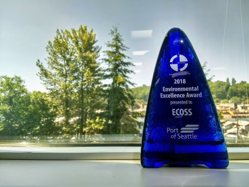 Port of Seattle awarded ECOSS an Environmental Excellence Award in recognition of ECOSS vital multicultural outreach.