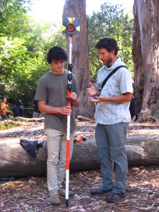 Scott describes how to properly use the prism pole.