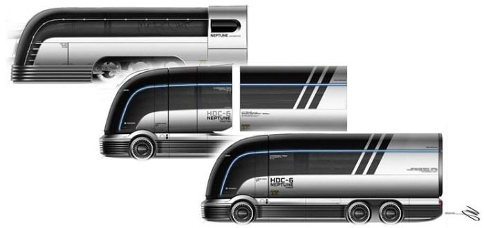 Huyndai представила концепт водородной фуры в стиле Art Deco