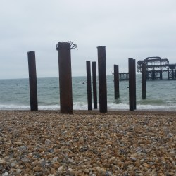 Pebbly beach, Brighton Beach, West Pier, Brighton, Hove