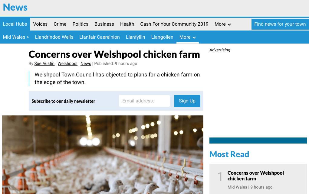 Shropshire Star - Concerns over Welshpool chicken farm