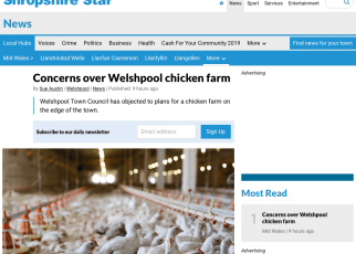 Shropshire Star - Concerns over Welshpool chicken farm