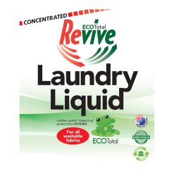 ECOTotal Australia safe and biodegradable Revive Laundry Liquid household cleaning product label