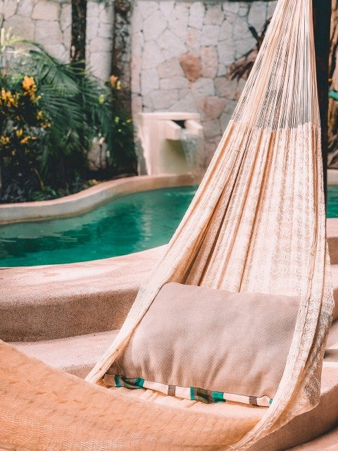 hammock in luxury hotel