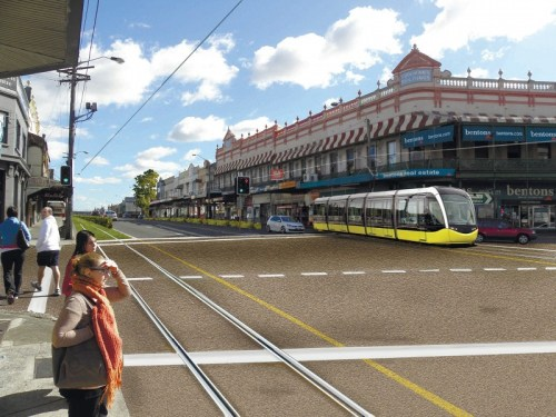 Artist Impression of Parramatta Road Light Rail
