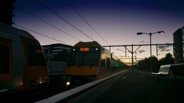 Waratah train at Canterbury Station