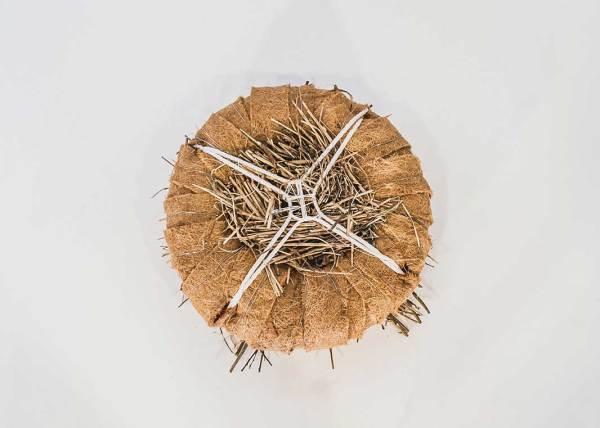 Futenkunstnest of dodaarskunstnest, gemaakt uit lariks. Dit kunstnest is op maat gemaakt voor de fuut of dodaar.