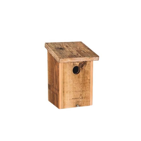 Spreeuwnestkast, gemaakt uit lariks. Deze nestkast is op maat gemaakt voor de spreeuw.