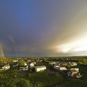 Rainbow over Cloughjordan Ecovillage