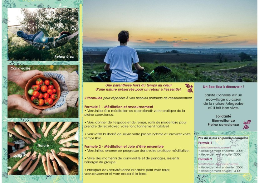 Flyer mindful summer impression verso
