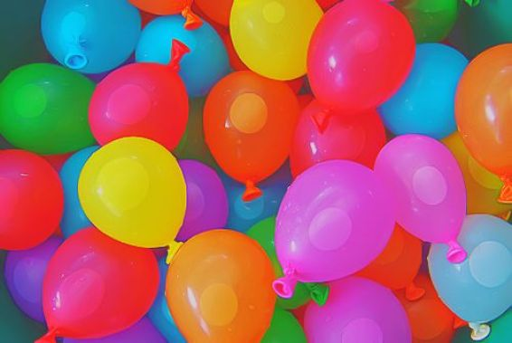 Avoid the use of balloons & plastic bags