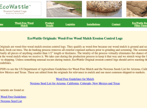 Erosion Control Wattles Weed-Free Wood Wood Mulch Link