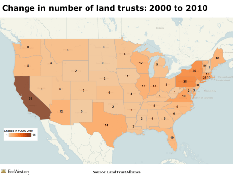 Growth in land trusts