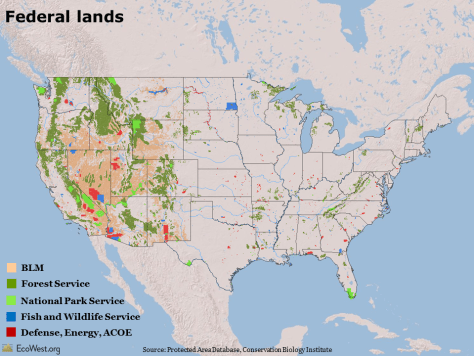 Land ownership map