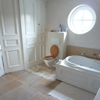 Tadelakt badkamer in Oud Gastel - Ecowonen