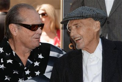 "Jack Nicholson and Dennis Hopper, two of the stars of the iconic 1969 ""Easy Rider"" film, in March 2010"