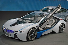 BMW i8 Concept electric car