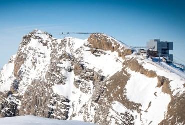 Glacier 3000 bridge walk in the Alps