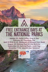 Free Entry to US National Parks