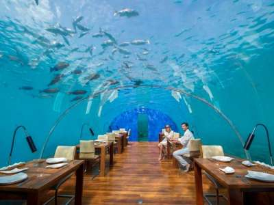 underwater restaurant Ithaa in Mdlaives