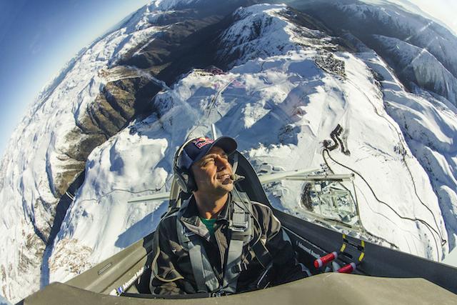 Cristian Bolton flies at the Cordillera de Los Andes, in Santiago, Chile, on June 10th, 2016