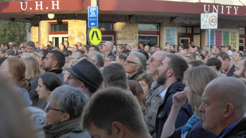 Image of observing the Anzac Day 2015 Ceremony, Balmain, Anzac Day 2015 - ecperkins.com.au