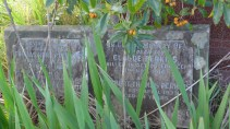 Image of Edward Claude Perkins memorial stone at Rookwood Cemetery, Anzac Day 2015 - ecperkins.com.au