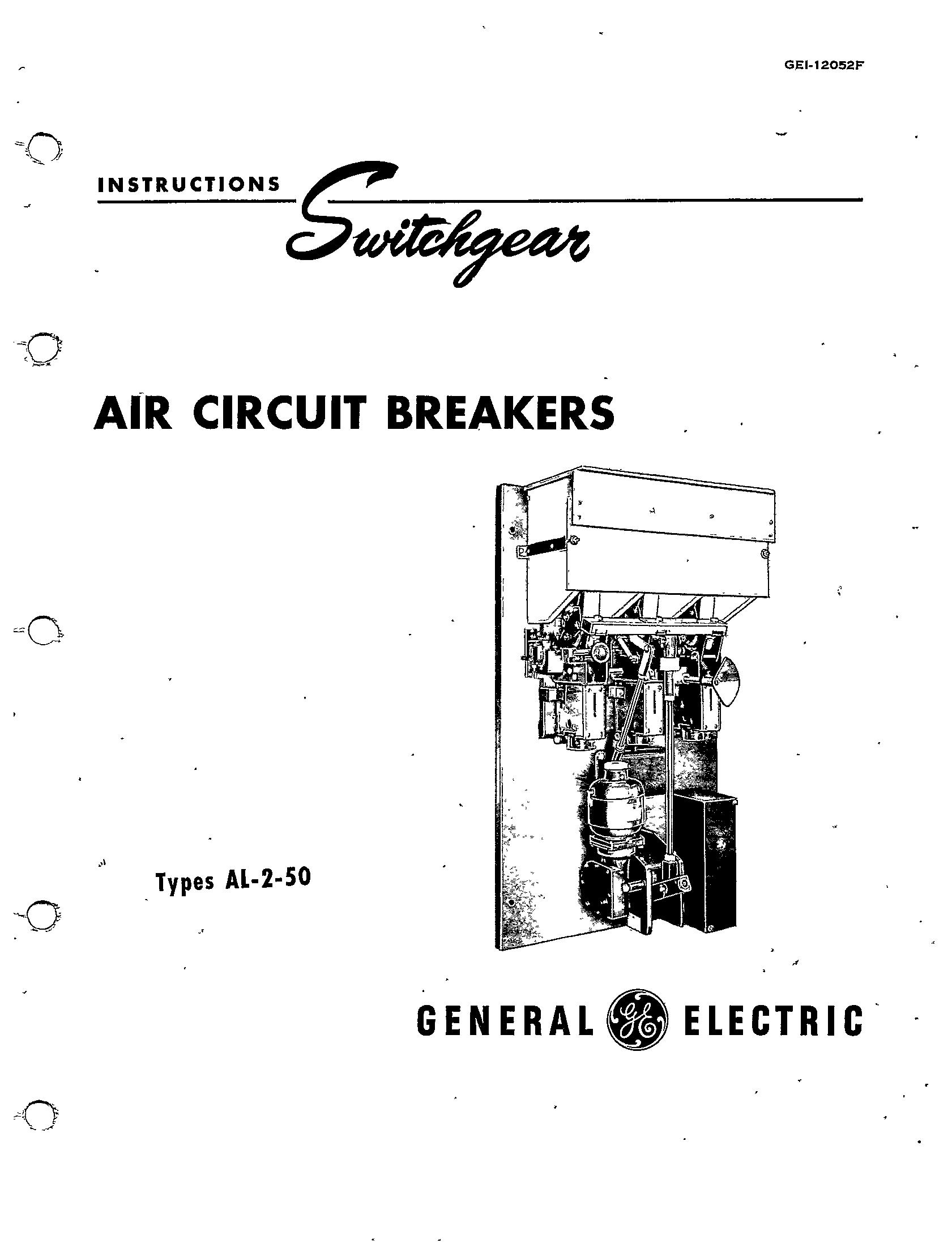 Gei F Air Circuit Breakers Types Al 2 50 Manual