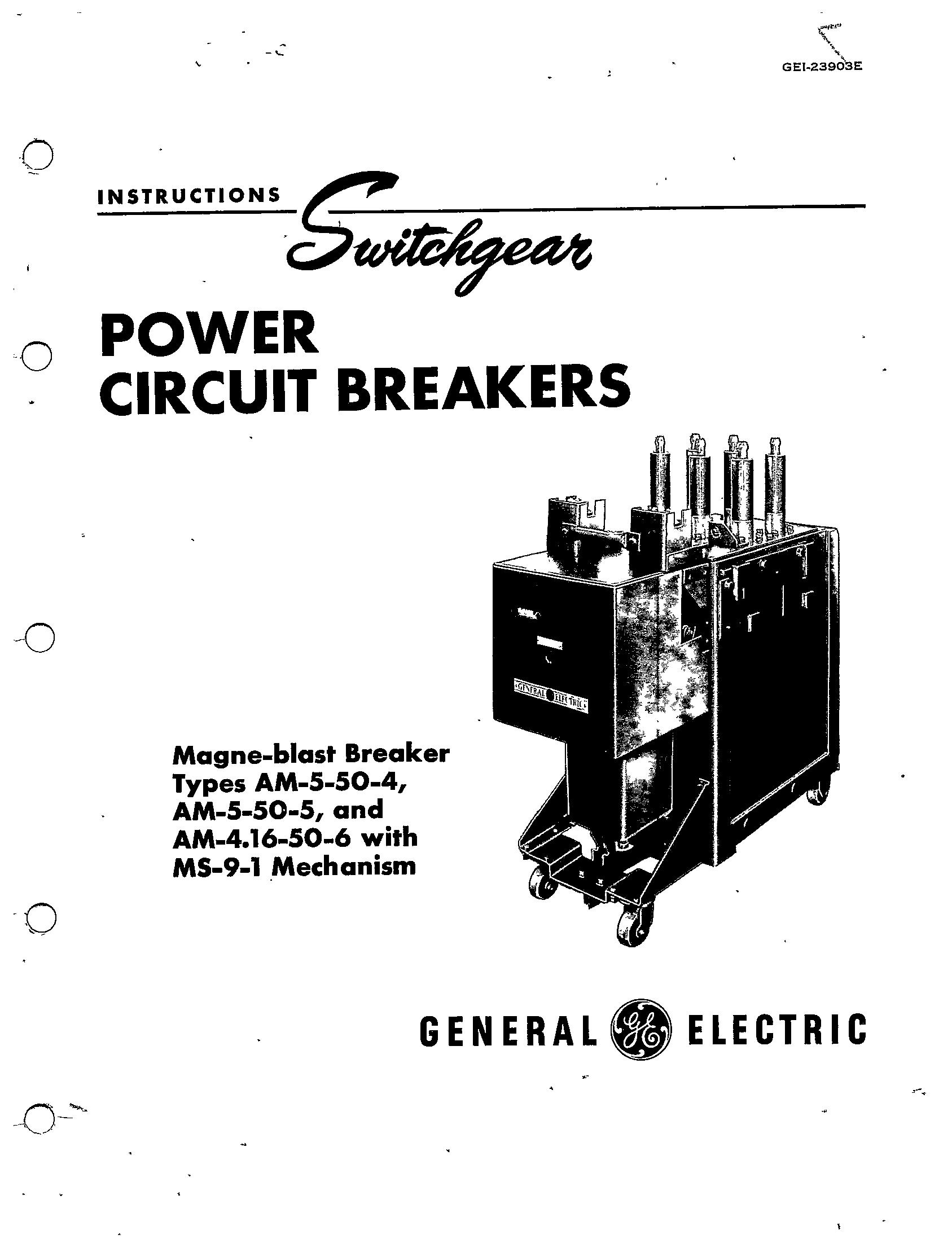 Gei E Power Circuit Breakers Magne Blast Breaker