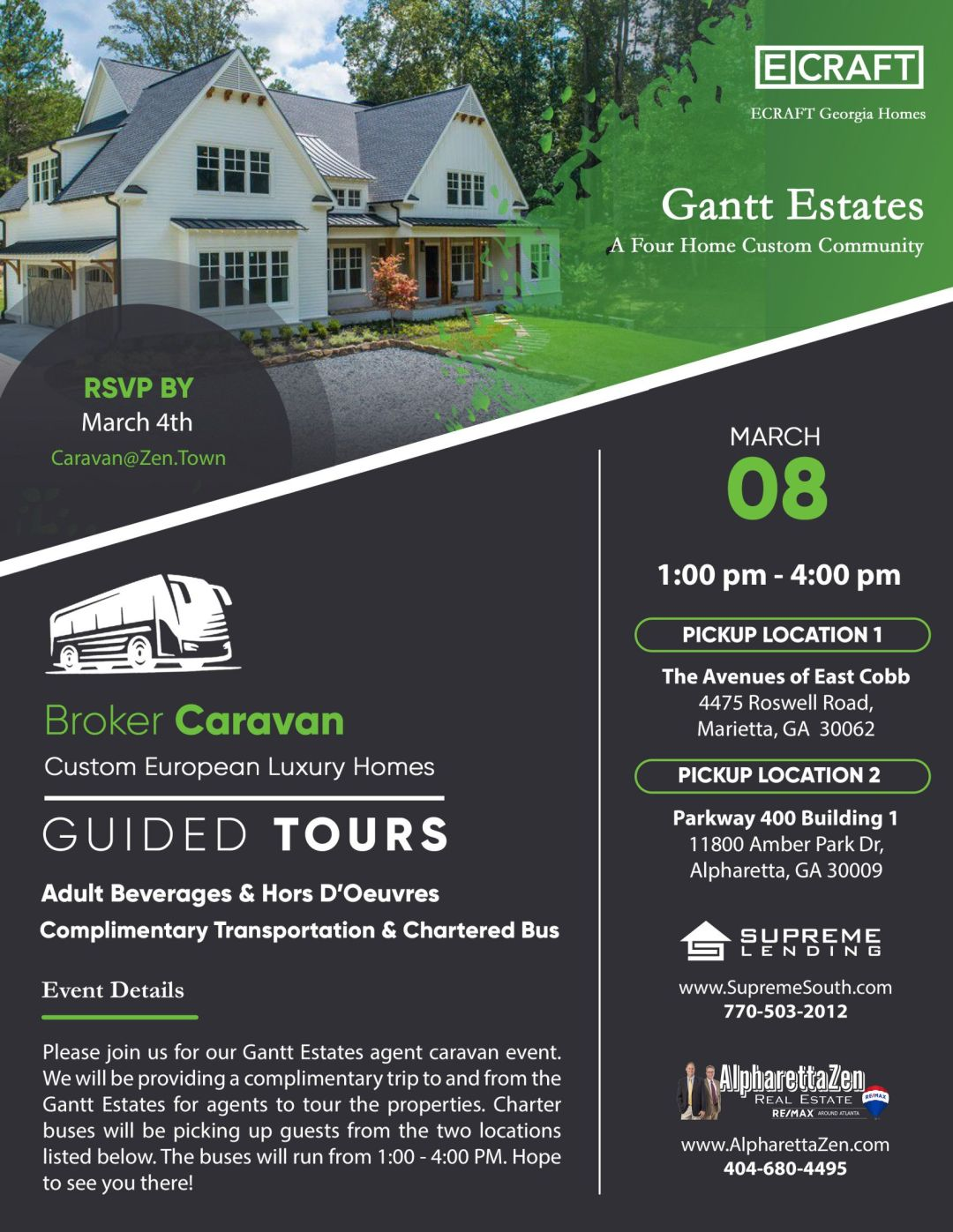 Ecraft Guided Tour of Gantt Estates