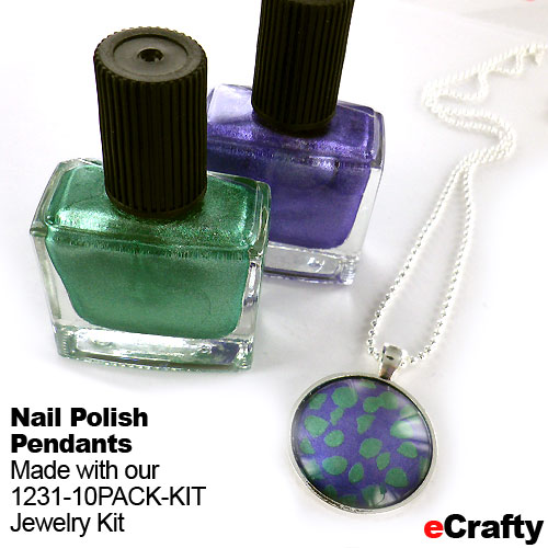 If you can paint your nails, you can make these pendants and fridge magnets! Find glass tiles, pendant bases, magnets and sealers at www.eCrafty.com