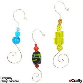 DIY Beaded Ornament or Photo Hangers Recipe from eCrafty.com