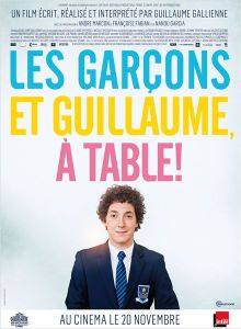 affiche les garcons et Guillaume a table