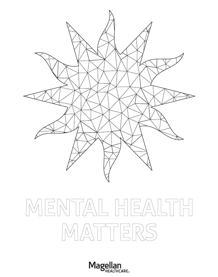 Mental Health Matters coloring page