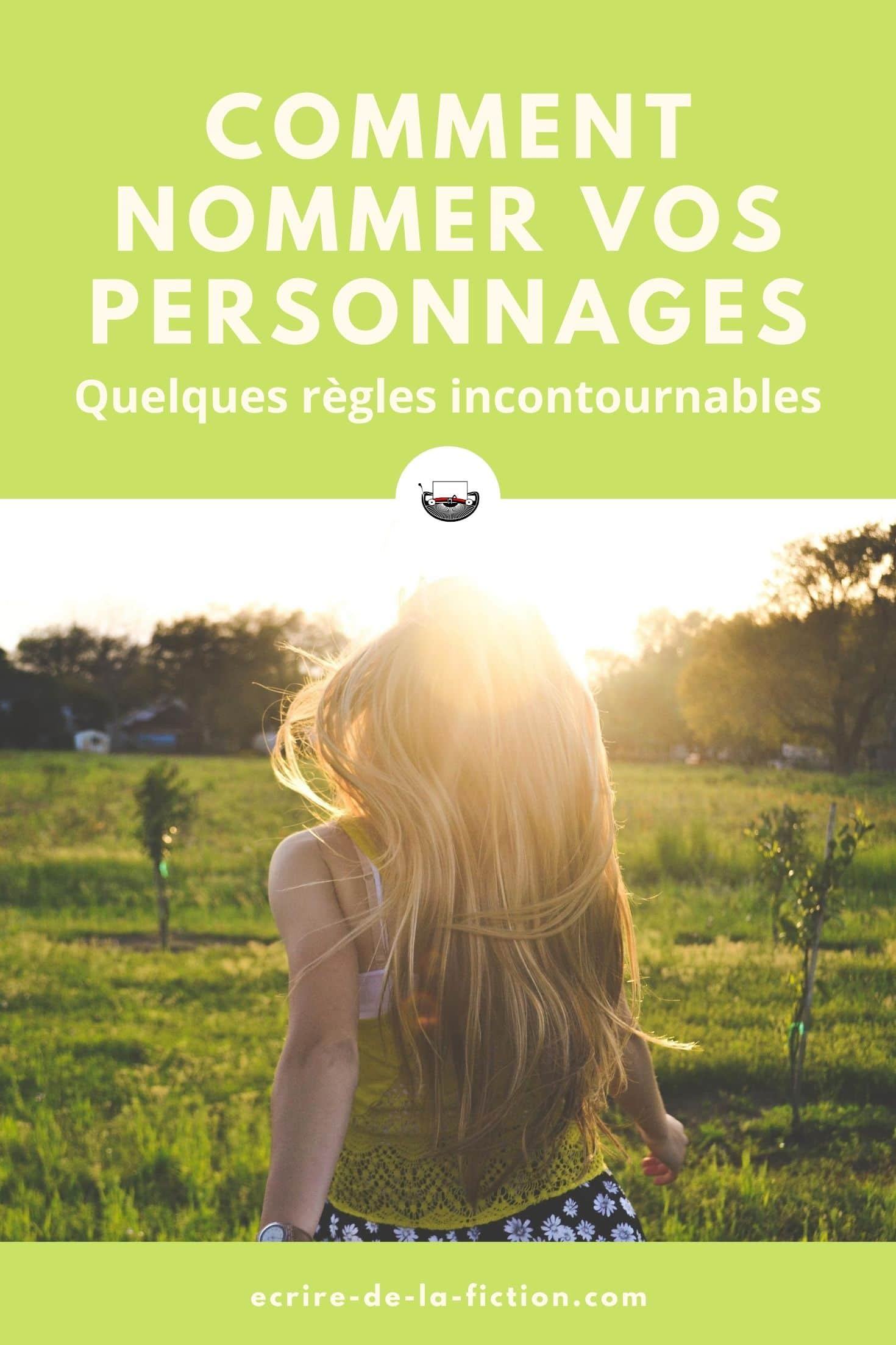 femme blonde dos epingle comment nommer personnages