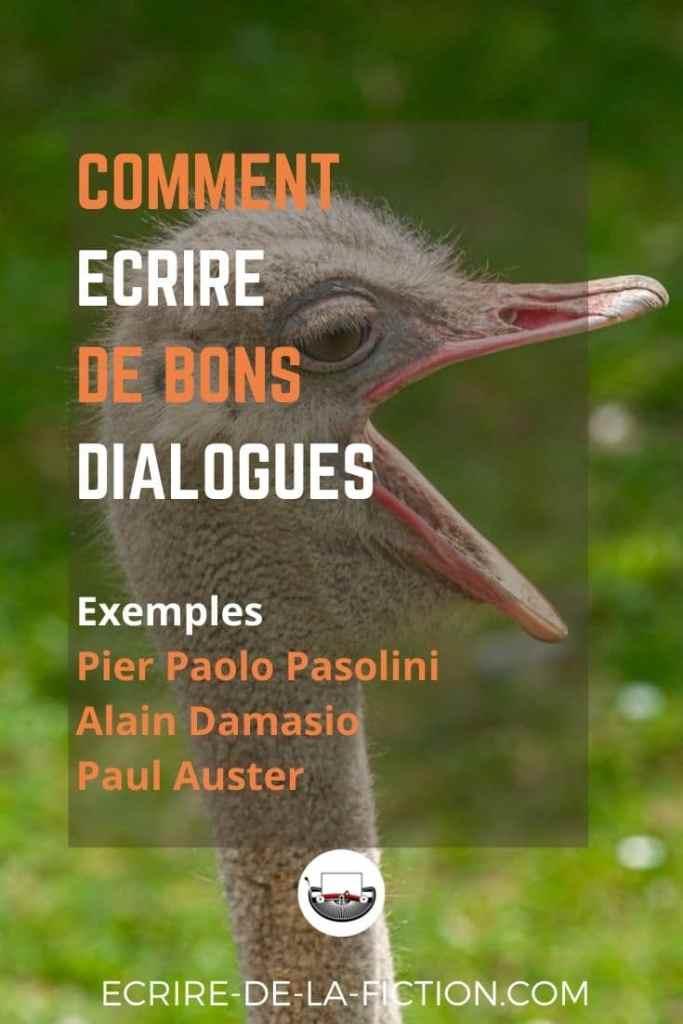 ecrire-dialogue-autruche-fond-vert