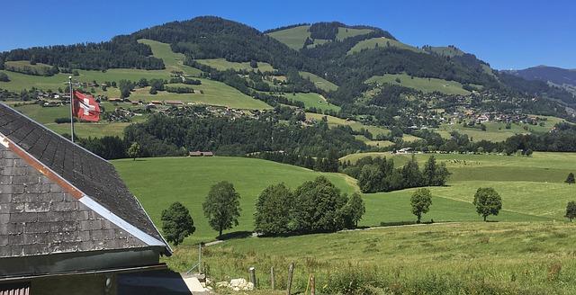 La région de la Gruyère en Suisse