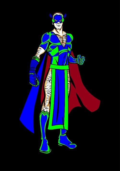 Image avec texte : un superhéros pour un super-roman...