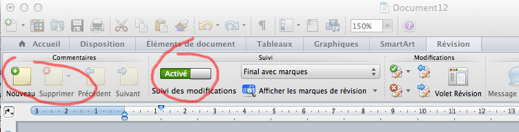 Ecriture collaborative : Word 2011