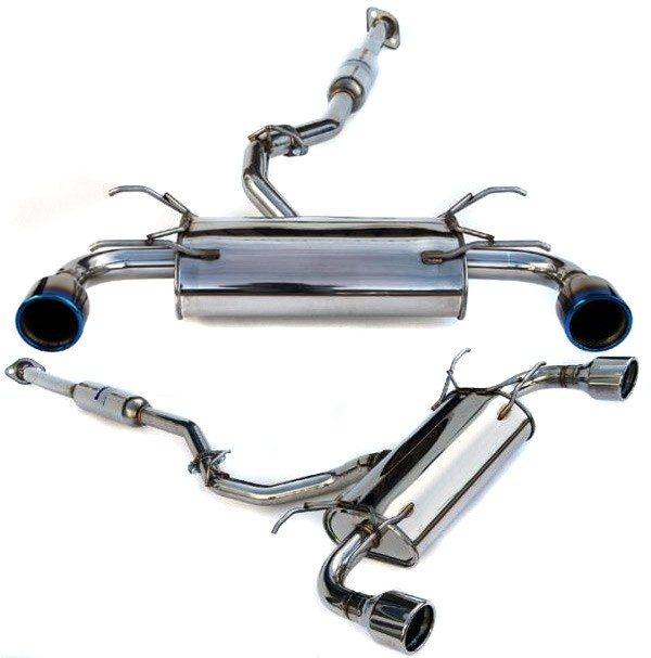 invidia q300 w rolled titanium tips catback exhaust scion fr s subaru brz 2013 2016